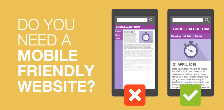 Do you need a mobile friendly website?